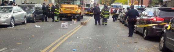 Pedestrian hit by school bus | New York Post