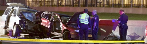 Man fatally struck by minivan taxi while changing tire